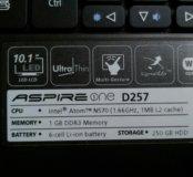 Нетбук acer aspire one D257 + сумка для него