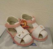 Новые кожаные сандали фирма Сказка. Детская обувь