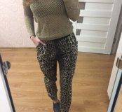 Леопардовые штаны topshop
