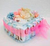 Тортик цветочная поляна