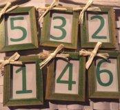 Таблички с нумерацией столов на мероприятие
