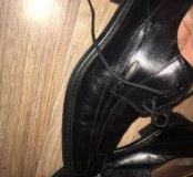 Кожаные туфли mercedes