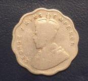 Монета Индии 1934 г. 1 анна, Георг V