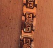 Золотой браслет мужской