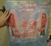 Кукла пупс с коляской и аксессуарами