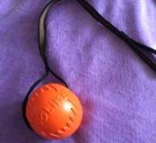 Мяч для собак с веревкой