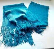 Модный женский шарф с кисточками