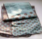 Двухсторонний женский шарф в горошек