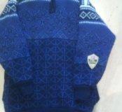 Теплый свитер на подкладке