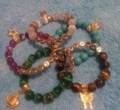 Именные браслеты из натурального камня на заказ