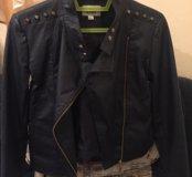 Куртка кожаная на подростка