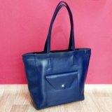 Новая кожаная сумка-шоппер