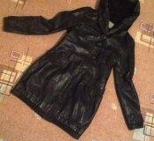 Пальто кожзам