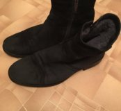 Замшевые зимние ботинки, сапоги