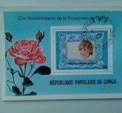Блок марка Конго 1982г