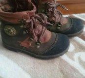 Весенние кожаные ботинки 29 размер