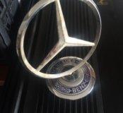 Mercedes значок на капот Мерседес эмблема