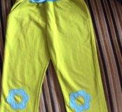 Яркие штанишки на мягкой резинке на 3-4 года