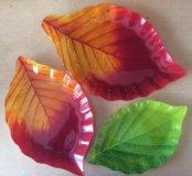 Красивые тарелки-листья
