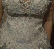 Свадебное платье,шлейф.46-48-50