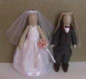 Свадебные тильда зайчики