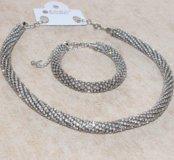 Комплект ожерелье и браслет