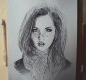 Рисую портреты ч/б