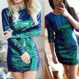 Платье с пайетками хамелеон новое