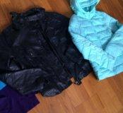 Куртки пакетом и джемпер водолазка 42