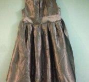 Серебристое платье 👗 на девочку