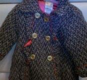 Пальто с беретом 1-2года