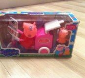 Новый игровой набор Свинка Пеппа и тележка с морож