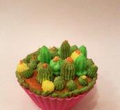 Капкейки с кактусами