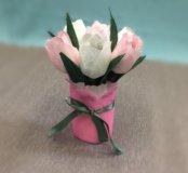 Подарок на 8 Марта , букет из конфет, тюльпаны