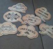 Таблички картонные для фотосессии на свадьбу