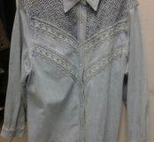 Рубашка женская джинсовая XXL