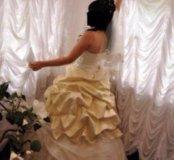 """Свадебное платье """"золотая парча""""не венчанное"""