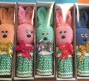 Сувенир подарок полотенце заяц на 8 марта