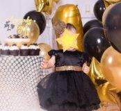 Чёрное маленькое платье и обувь для девочки