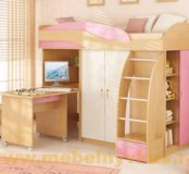 Кровать чердак непоседы