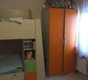 Двухъярусная кровать +шкаф