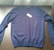 Новый синий свитер