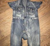 Стиляжный джинсовый комбинезон Gulliver