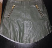 Кожаная юбка Зара