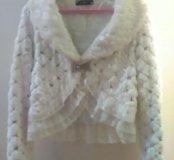 Свадебная тонкая шубка(пиджак)