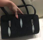 Новая сумка из кожи ската