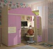 Кровать чердак Нильс для принцессы
