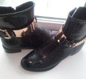 Новые супер модные ботинки 40 рр