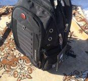 Чёрный качественный швейцарский рюкзак swissgear