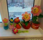 Игрушки цветочки.